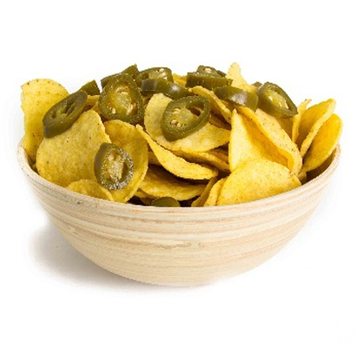 Jasper's (V) Tortilla Chips and Pickled Jalapenos
