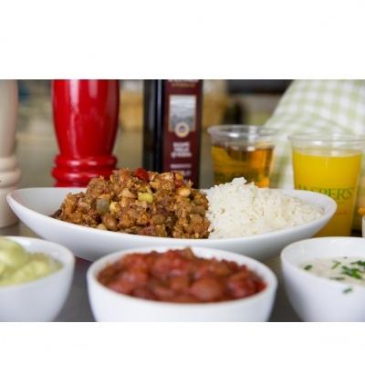 Jasper's Chilli Con Carne with Rice & Garlic Bread