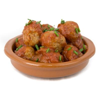 Jasper's Spanish Meatballs in Tomato Sauce